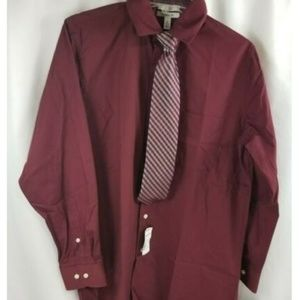 Croft & Barrow Classic-Fit Burgundy Dress Shirt M